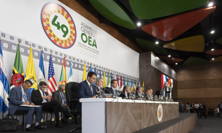 Ambassador Carlos Trujillo, Permanent Representative of the United States to the Organization of American States (OAS) addresses the 49th OAS General Assembly meeting in Medellin, Colombia, June 27-28, 2019. (OAS Photo)