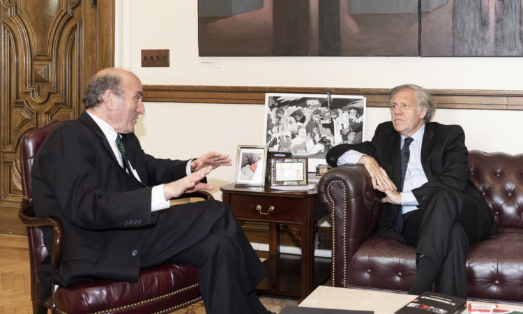 Secretary General Meets with U.S. Special Representative for Venezuela Elliott Abrams, July 12, 2019.