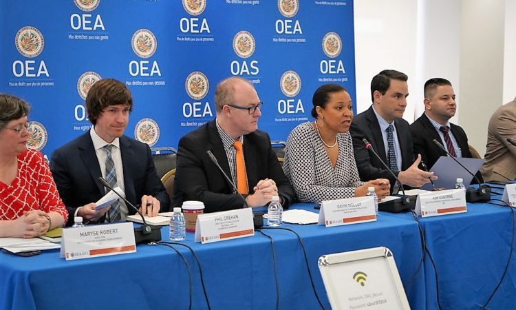 "Ambassador Carlos Trujillo addresses the conference - ""Roundtable on Economic Prosperity for All: Tourism and the LGBTI Community"", at OAS headquarters in Washington, D.C., April 5, 2019. (OAS Photo)"