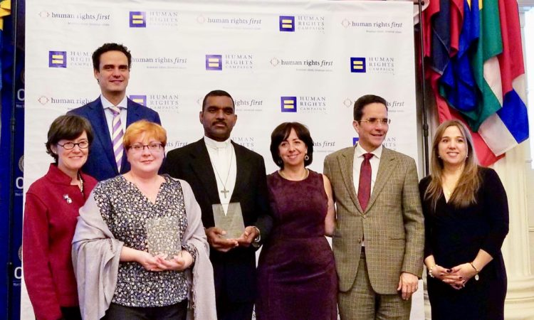 The OAS LGTBI Core Group and the OAS Secretariat for Access to Rights and Equity hosted a celebration of Human Rights Day on December 11, 2017 at the OAS, organized by the Human Rights Campaign (HRC) and Human Rights First.