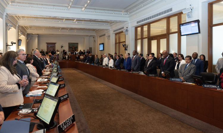 The OAS Permanent Council commemorates the anniversary of the September 11, 2001 terrorist attacks. (OAS Photo)