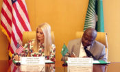 Ivanka Trump and Amb. Kwesi Quarti sign joint communiqe