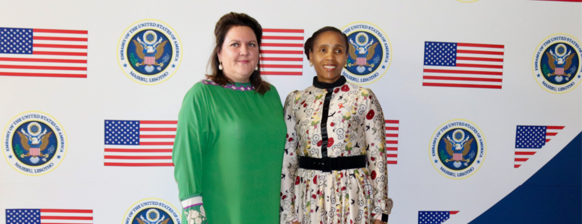 Ambassador Gonzales and Queen 'Masenate Honor Basotho HIV/AIDS Champions