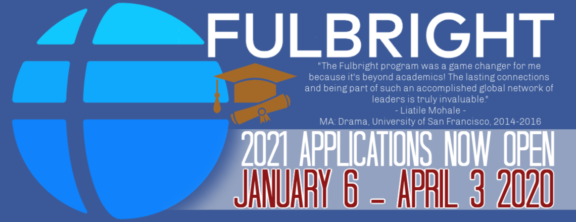 We Are Now Accepting Fulbright Scholarship Applications!