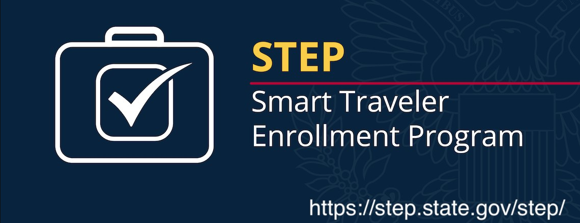US citizens, sign up for the Smart Traveler Program here