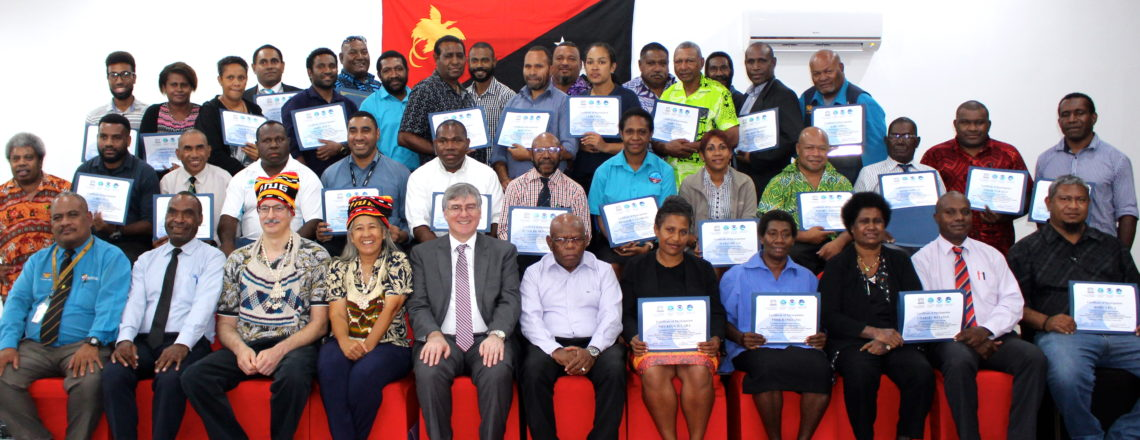 Provincial participants awarded for Tsunami Training in Papua New Guinea