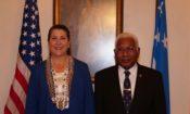U.S. Ambassador Erin Elizabeth McKee Presents Credentials  to Solomon Islands Governor General