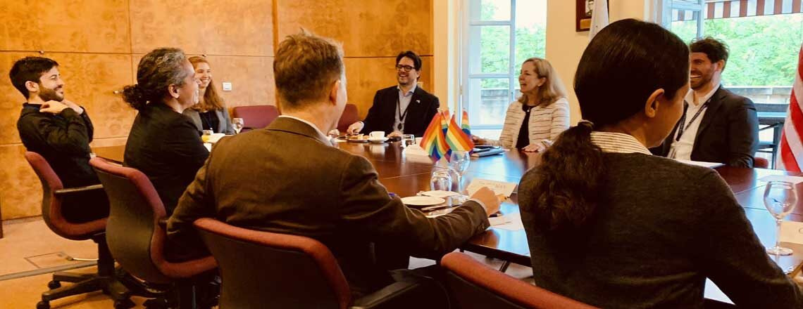 Chargé D'Affaires Baird welcomed LGBTQI+ organizations GLOBE and GLIFAA at the OECD
