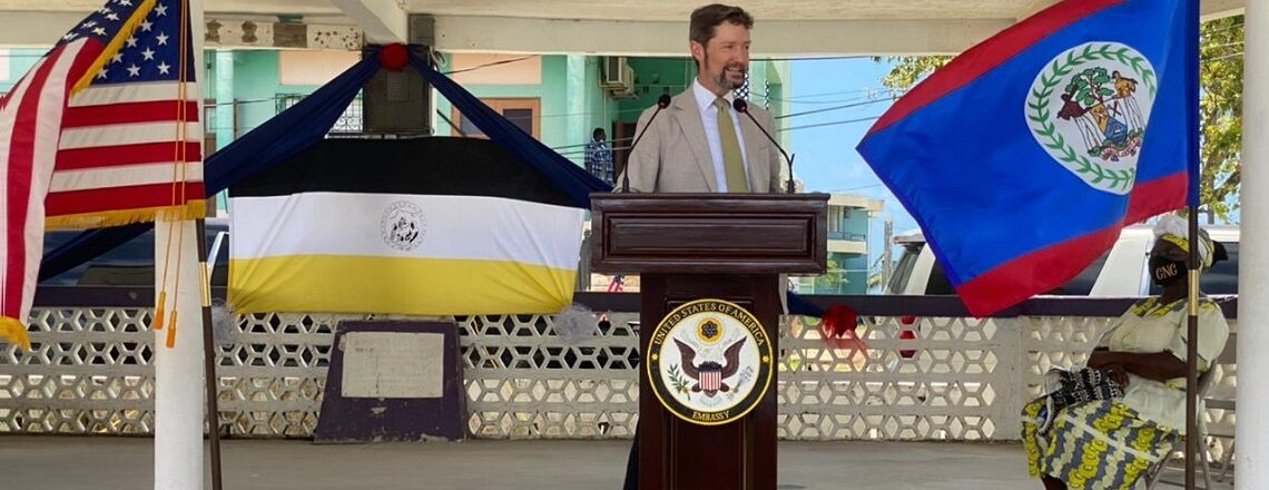 U.S. Embassy Donates Children Books to Dangriga Community