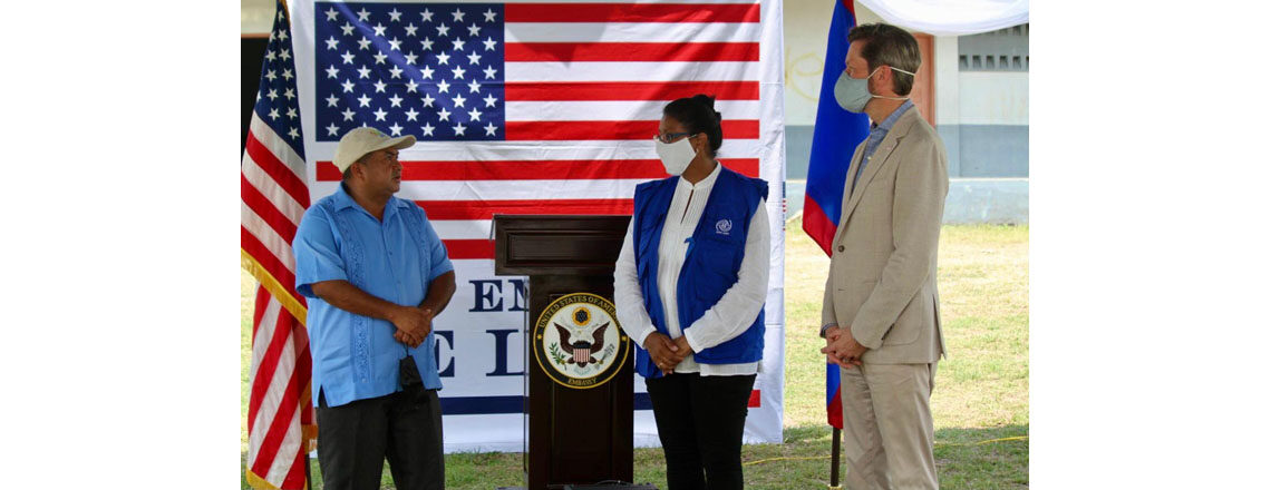 U.S. Embassy Supports Mobile Migrant Hub in Southern Belize