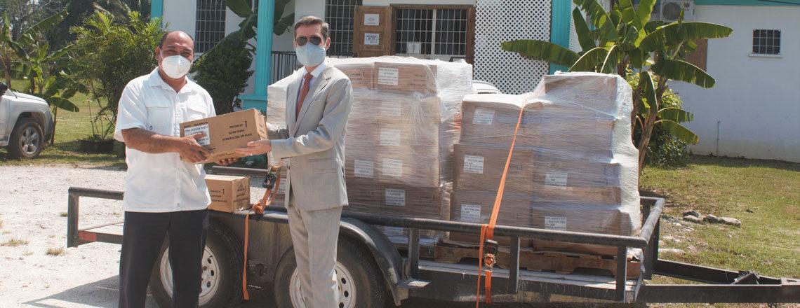 U.S. Embassy Delivers Funds to BAHA for Fruit Fry Eradication Program