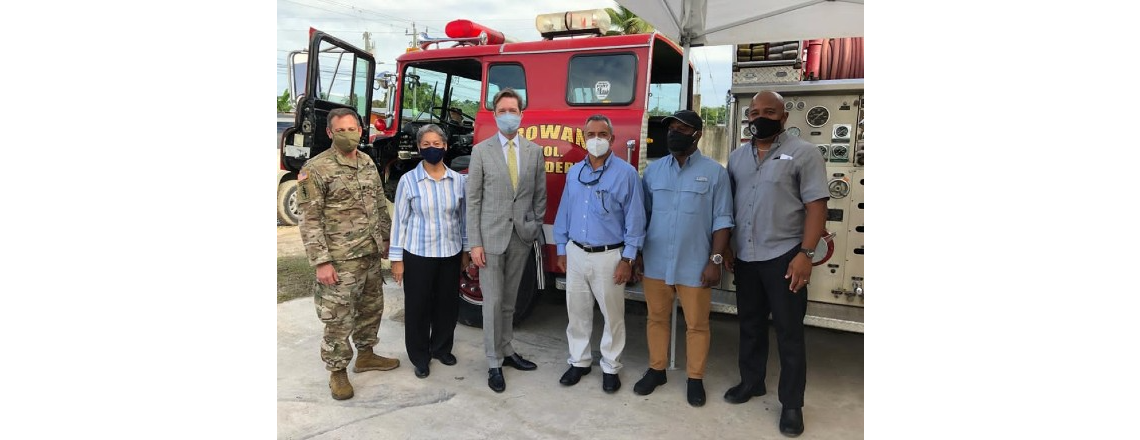 U.S. Government Delivers Fire Truck to Ladyville Fire Station
