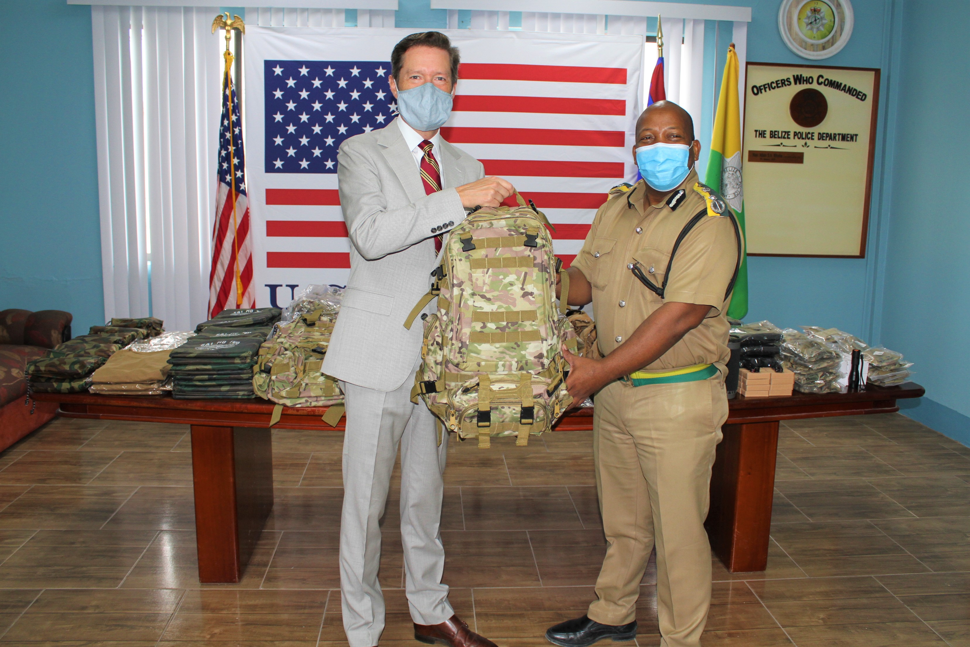 U.S. Embassy Delivers Tactical Equipment to the Belize Police Department