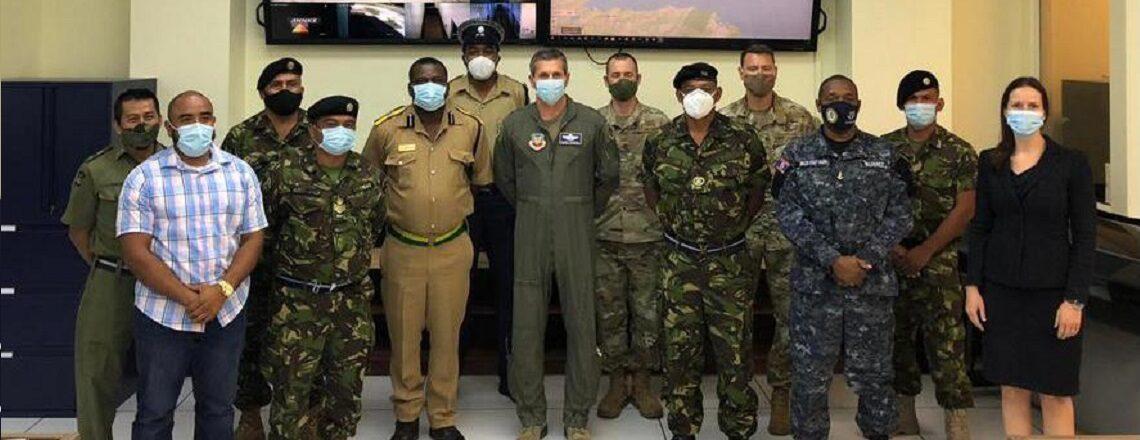 Air Forces Southern Commander Major General Barry Cornish visits Belize