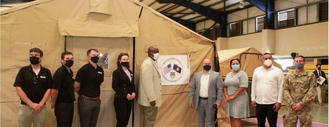 U.S. Government Donates Mobile Field Hospital to Belize