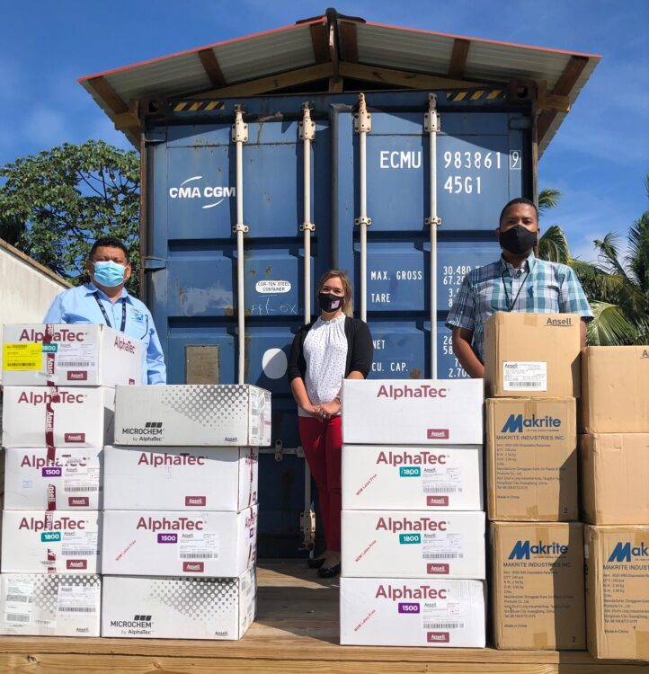 U.S. Embassy Delivers Personal Protective Equipment to Central Medical Lab