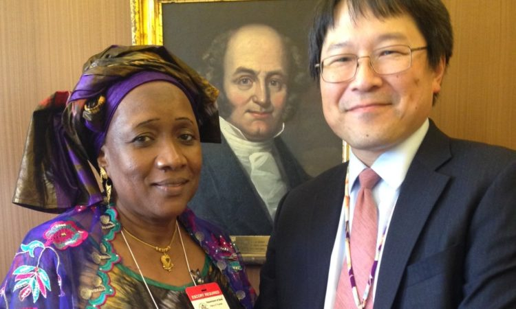 Malian AWEP Alumna Ada Bocoum Sow with the Branch Chief for Africa's International Visitor Leadership Program Andrew Lee, Washington DC July 2017