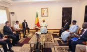 L'Ambassadeur des États-Unis, Dennis B. Hankins, et une délégation de hauts responsables de l'armée américaine, rencontrent le Président Ibrahim Boubacar Keïta