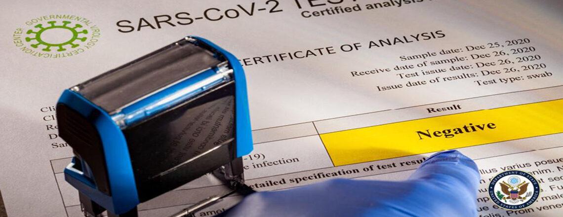 Test COVID-19 négatif requis pour les voyages vers les États-Unis à partir du 26 janvier