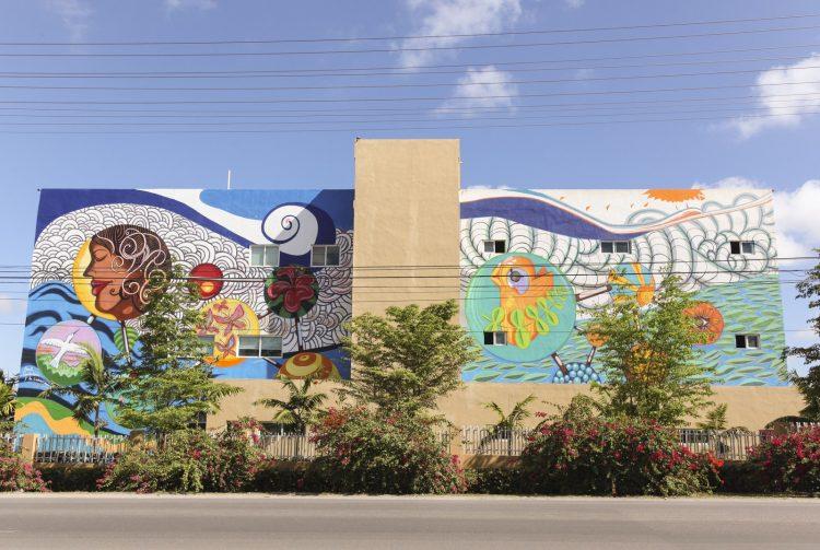 Un mural pintado.