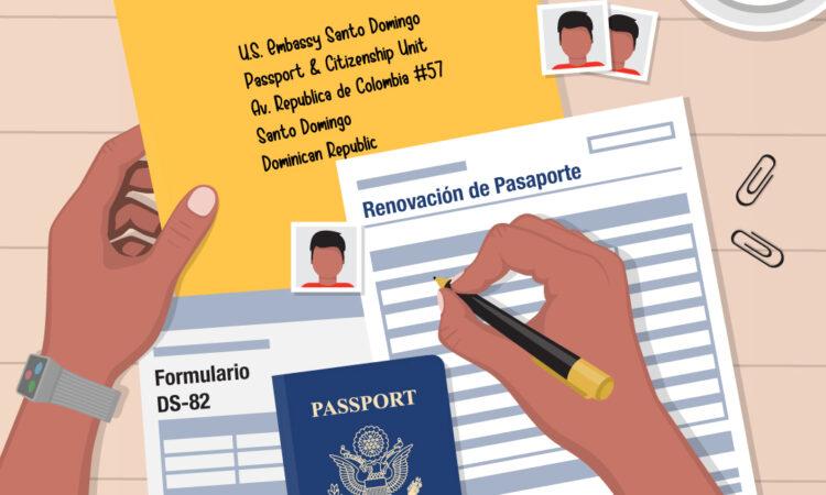 Formulario DS-82, Pasaporte estadounidense y direccion fisica de la Embajada