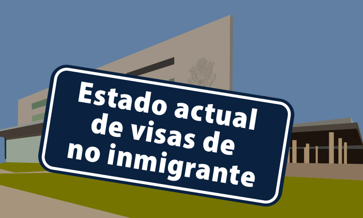 Non immigrant visa operations sign with building behind