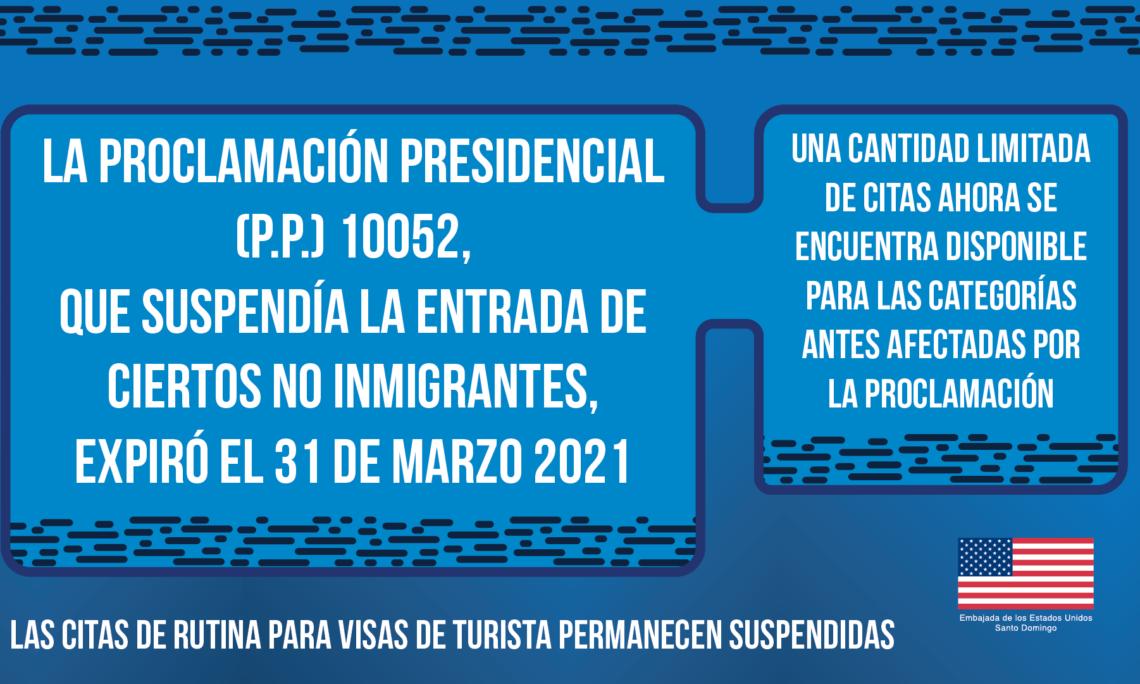 flyer anunciando actualizacion de estarus en visa de no inmigrante
