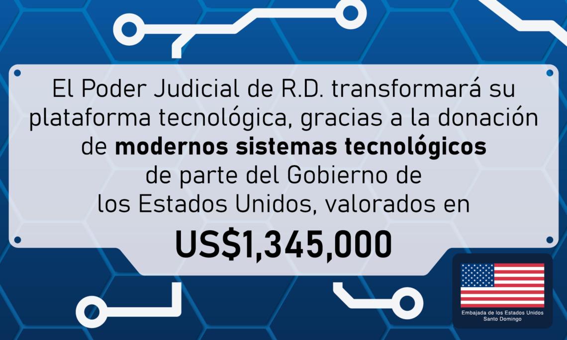 infografía sobre la donación al Poder Judicial