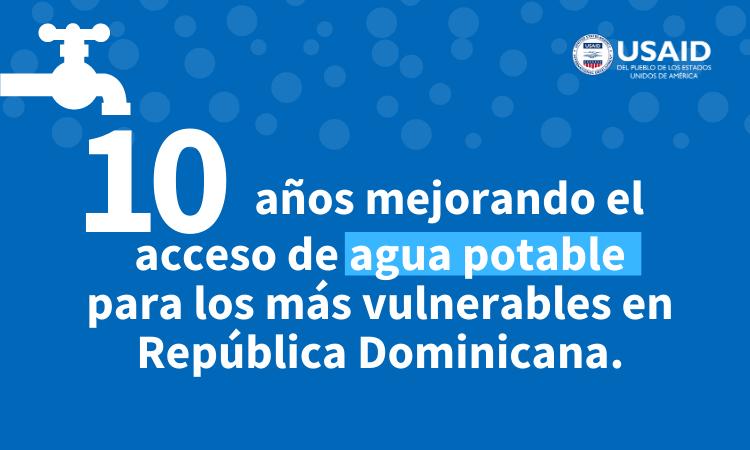 10 años mejorando el acceso de agua potable para los más vulnerables en República Dominicana.