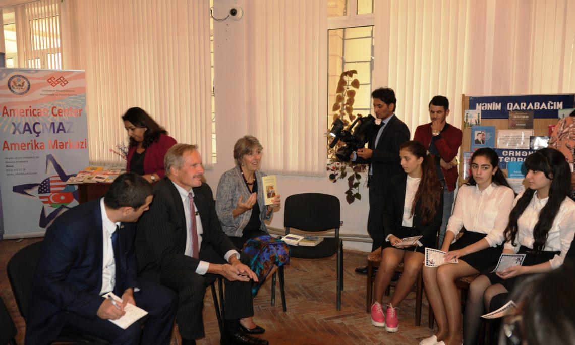 Us Ambassador Opens Khachmaz American Corner U S Embassy In Azerbaijan