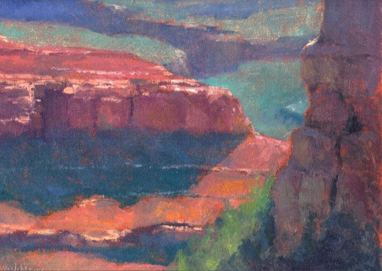 """Looking Down from Yaki Point"" by Michael Chesley Johnson, 2013"
