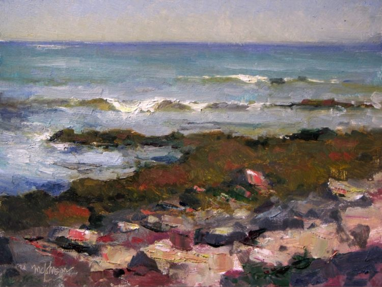 """Seawall Waves"" by Michael Chesley Johnson, 2015"
