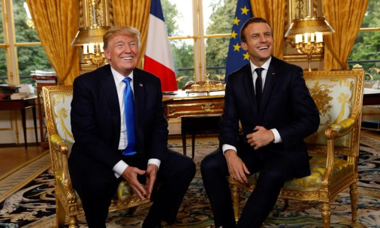 President Trump and French President Macron
