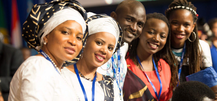 Mandela Washington Fellows at the Young African Leaders Initiative Presidential Summit on August 3, 2016.