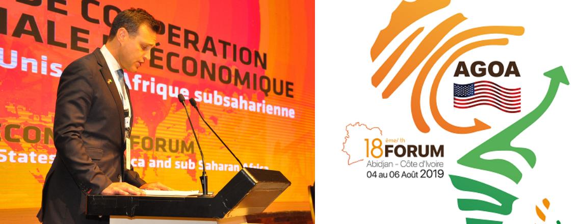 Allocution de l'ambassadeur C.J. Mahoney à l'occasion du Forum 2019 de l'AGOA à Abidjan