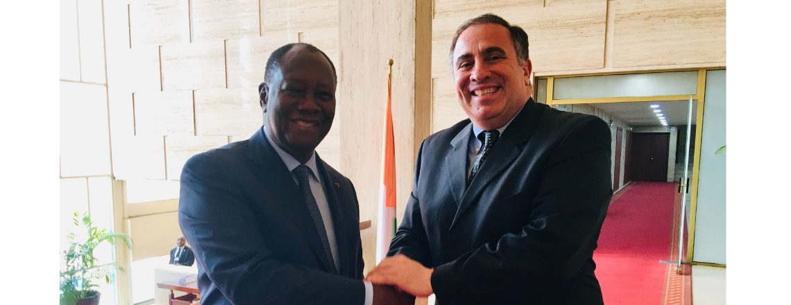 Meeting between President Ouattara and Ambassador Alex Laskaris