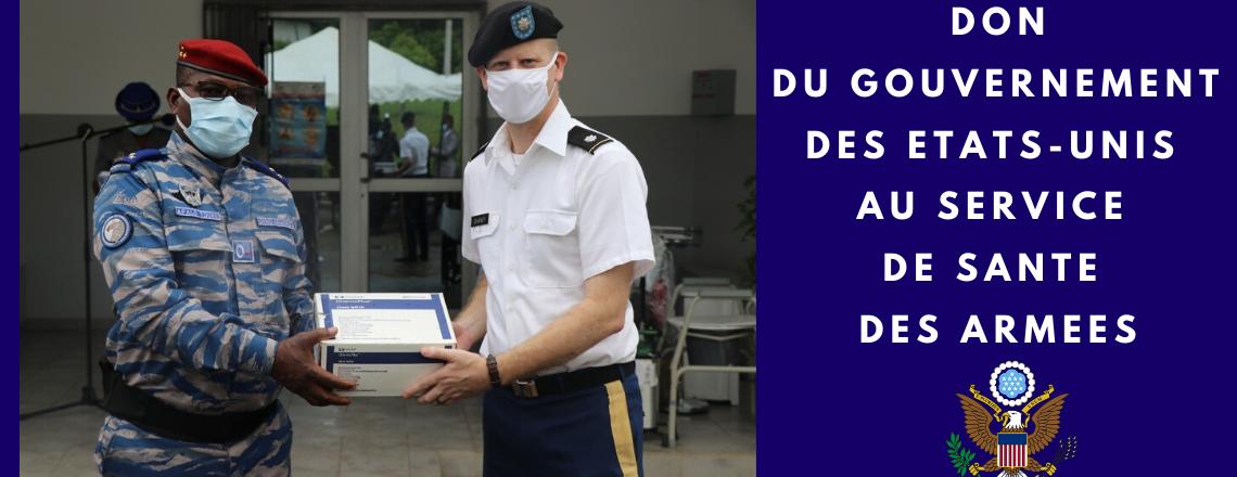 Don du gouvernement des Etats-Unis au Service de Santé des Armées