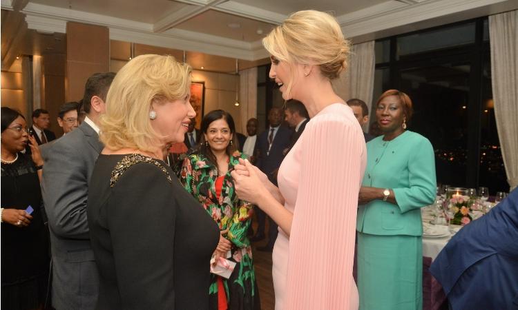 Dîner d'état avec la Première Dame de Côte d'Ivoire