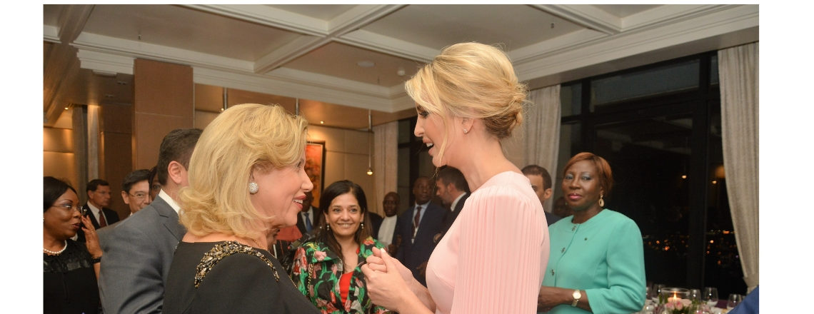 Senior Advisor Ivanka Trump attends dinner hosted by First Lady of Côte d'Ivoire