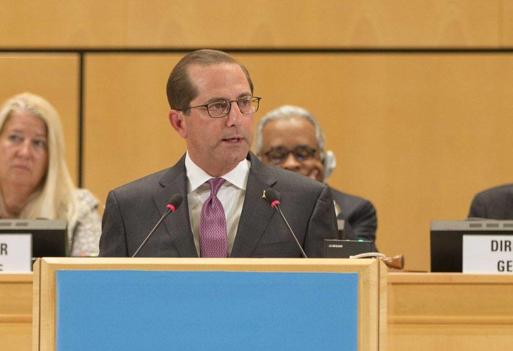 Remarks By HHS Secretary Alex Azar at the 71st World Health