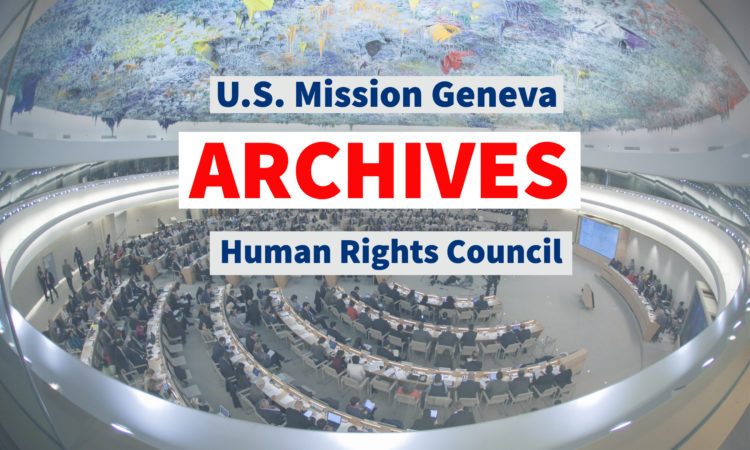 Human Rights Archives | U S  Mission to International