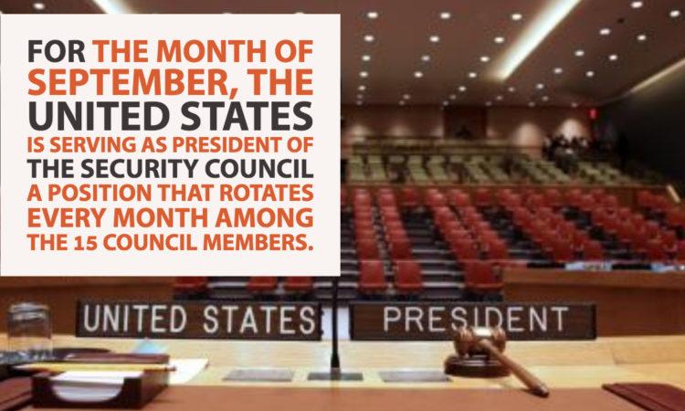 U.S. Presidency of the U.N. Security Council