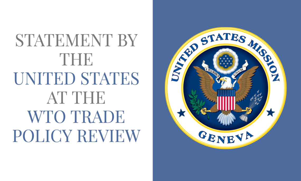 WTO TRADE POLICY REVIEW