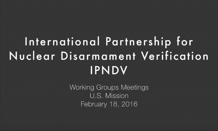 Graphic: International Partnership for Nuclear Disarmament Verification – Interviews of the Co-Chairs of the Three Working Group