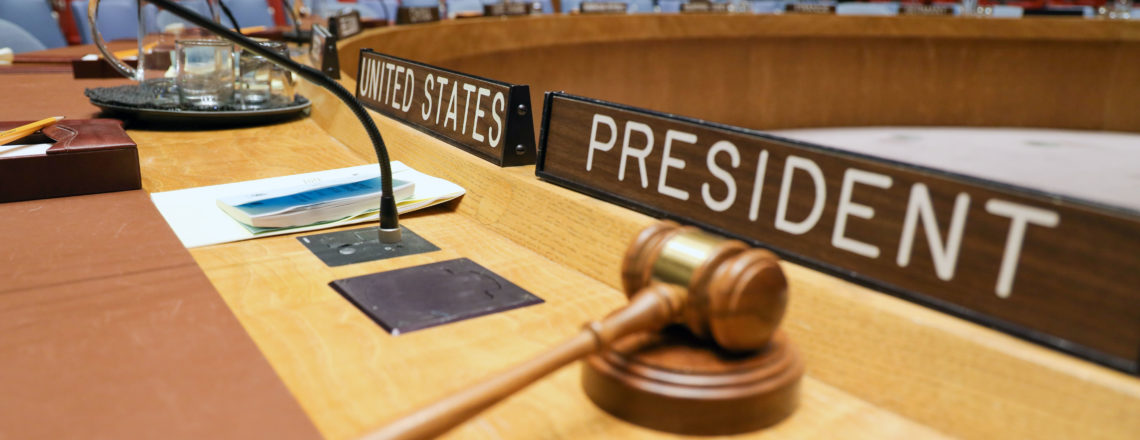 United States Security Council Presidency December 2019