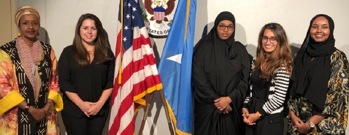 U.S. Senate Staff members meet Somalia Upper House Senators in Mogadishu