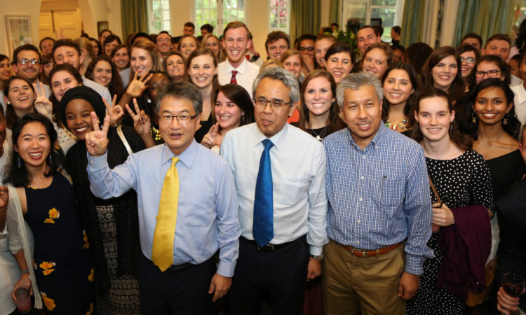 Ambassador Yun welcomed 100 Fulbright English Teaching Assistants (ETA) to his home in Kuala Lumpur for a reception before they depart for their schools all across Malaysia. (U.S. Embassy photo)