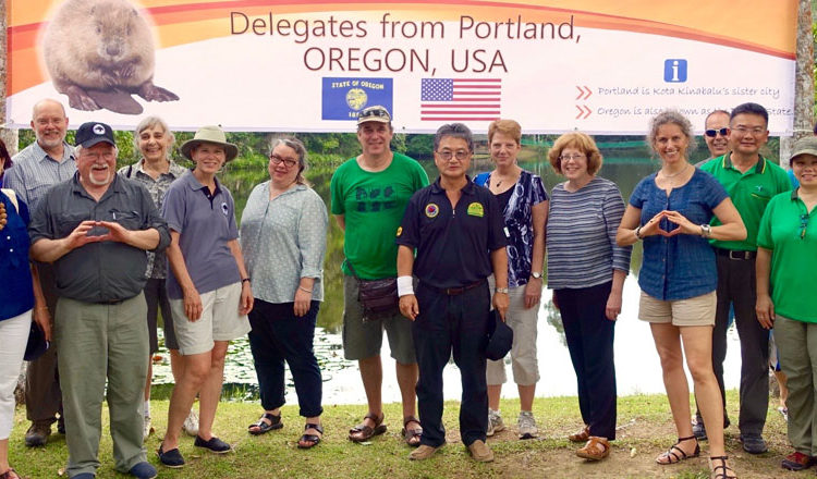 Ambassador Yun and the Portland delegation visit the Rainforest Discovery Centre (RDC) in Sandakan, Sabah. (U.S. Embassy photo)