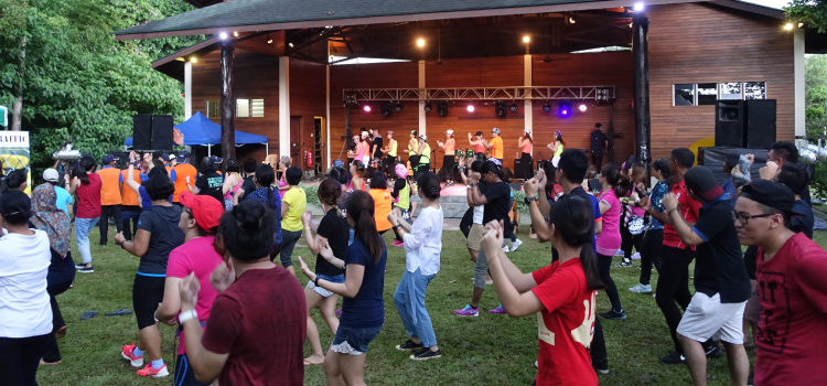 A lively Zumba session at the festival (U.S. Embassy photo)