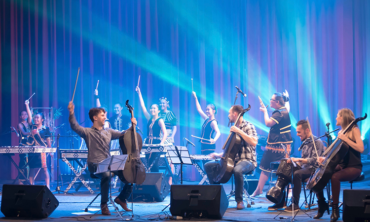 Break of Reality with the bamboo orchestra from SMK Tamparuli. (U.S. Embassy photo)